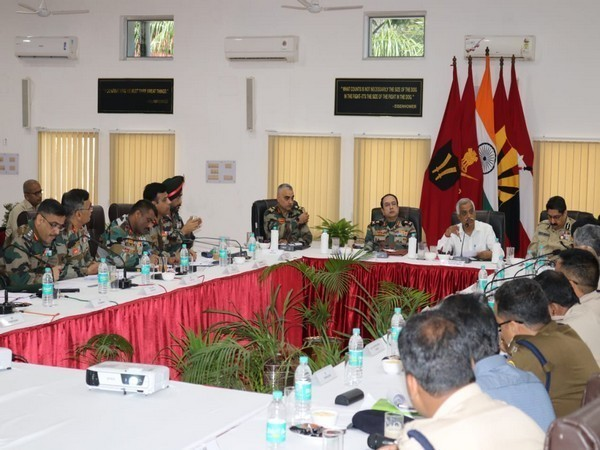 The security review meeting took place at Dinjan on Wednesday.