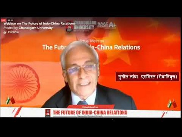 The virtual meet on 'The Future of Indo-China Relations' was organized by Chandigarh University, Gharuan.