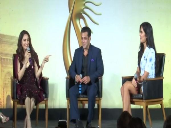 Madhuri Dixit, Salman Khan and Katrina Kaif
