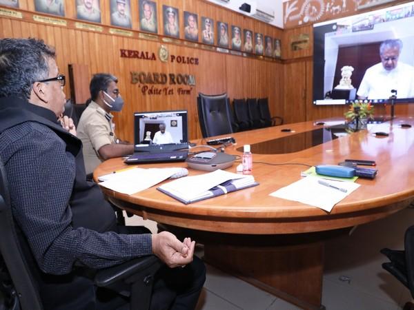 Visual of the meeting chaired by Kerala Chief Minister Pinarayi Vijayan (Photo/ANI)