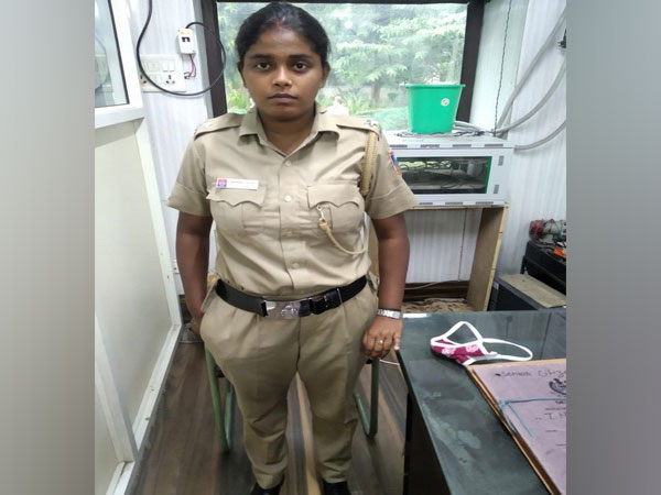 Tamanna Jahan, accused of issuing COVID-19 challans after impersonating as Assistant sub-inspector. (Photo/ANI)