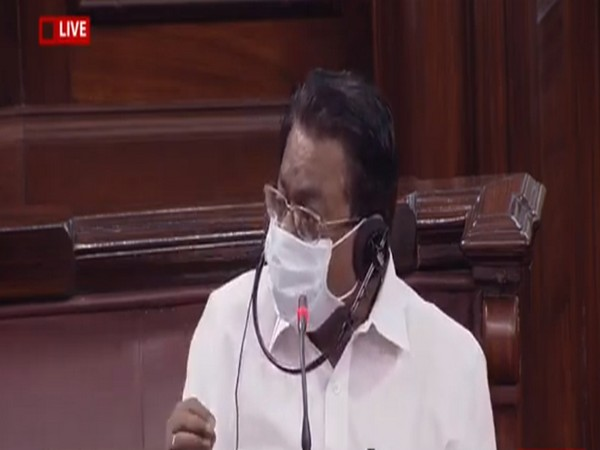 DMK MP TKS Elangovan speaking in the Rajya Sabha on Sunday.