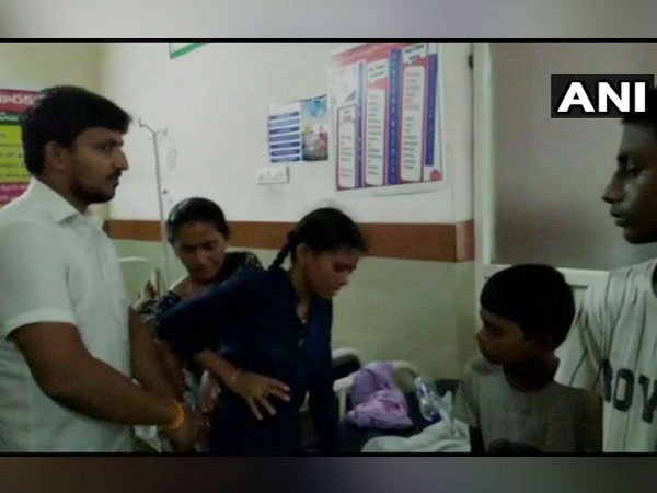 Children being attended to in the area hospital. Photo/ANI