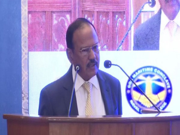 National Security Advisor Ajit Doval addresses Goa Maritime Conclave in New Delhi on Friday [Photo/ANI]