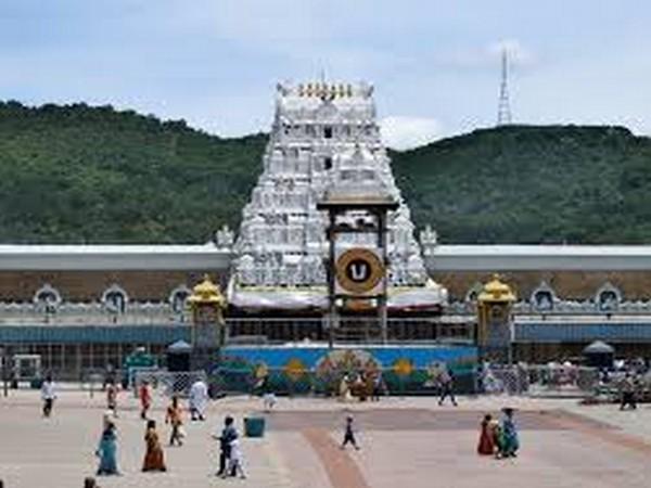 Tirumala Venkateswara Temple situated in Andhra Pradesh's Tirumala town.. Photo/ANI