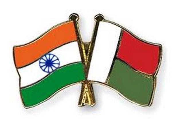 India and Madagascar flags
