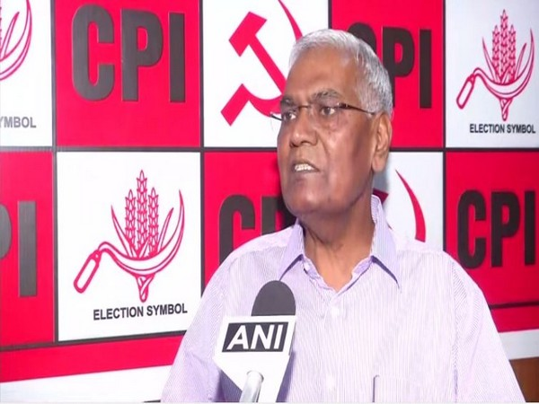 CPI General Secretary D Raja speaks to ANI in New Delhi on Thursday [Photo/ANI]