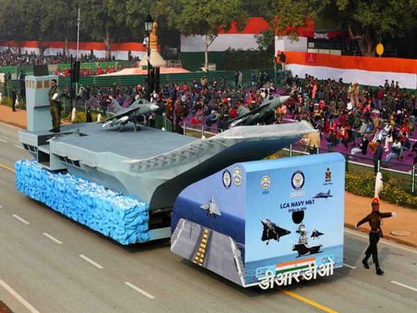 The DRDO tableau showcasing LCA Navy (Image courtesy: Ministry of Defence)