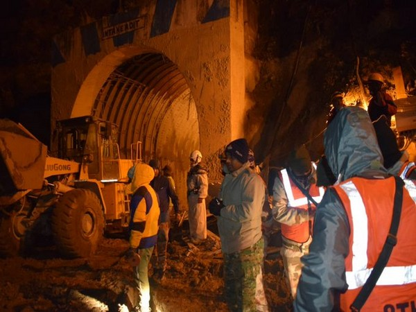 Drilling operation inside the Tapovan tunnel. (Photo/ ANI)