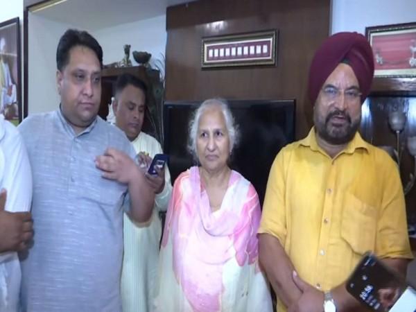 Family members of Punjab CM-designate Charanjit Singh Channi