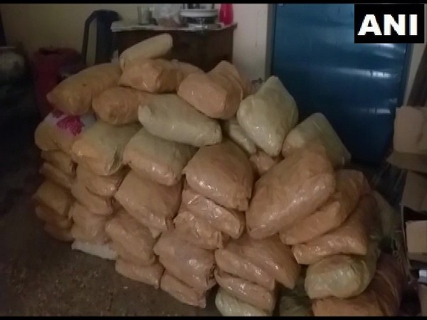 160 kg of cannabis seized by the Excise Department in Visakhapatnam on Thursday. (Photo/ANI)