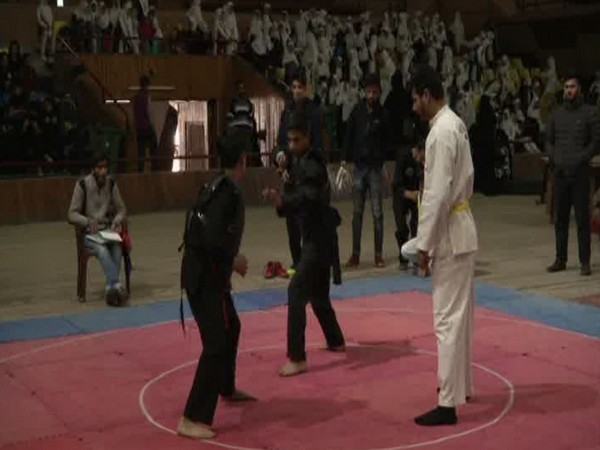 Students in action during Pencak Silat State Championship