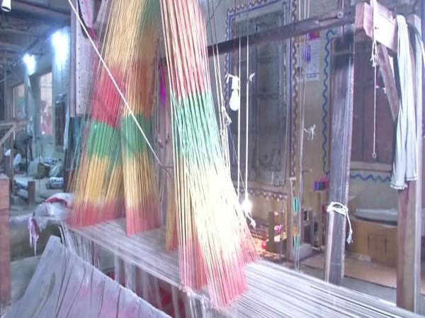 Banarasi silk saree trade in Varanasi has been badly affected amid COVID-19. (Photo/ANI)