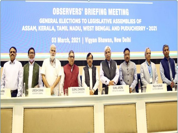 ECI organizes briefing meeting of observers for upcoming Assembly Elections (Photo/ANI)