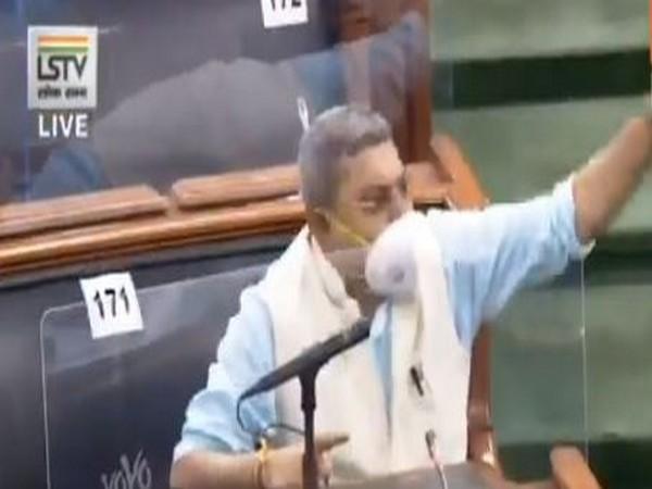 Kalyan Banerjee, Chief Whip of All India Trinamool Congress in Lok Sabha (Photo/LSTV)