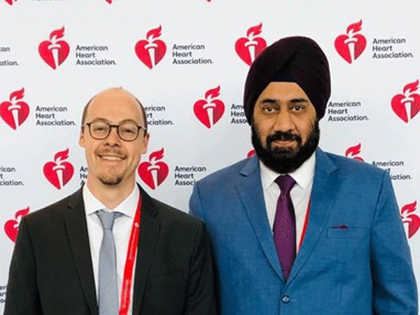 Dr Sebastian Kufner who presented the 10-year data of ISAR TEST 5 at the meeting of American Heart Association, Philadelphia last year along with Gurmit Singh Chugh, Co-founder, Translumina.