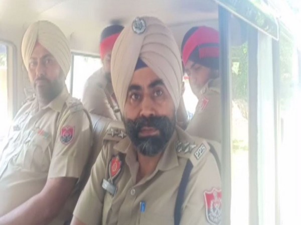 Deputy Superintendent of Police, Sukhvinder Singh speaking to ANI in Firozpur, Punjab on Tuesday. Photo/ANI