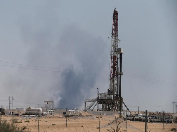Smoke rising from the plant following a fire at Aramco oil facility in the eastern city of Abqaiq in Saudi Arabia