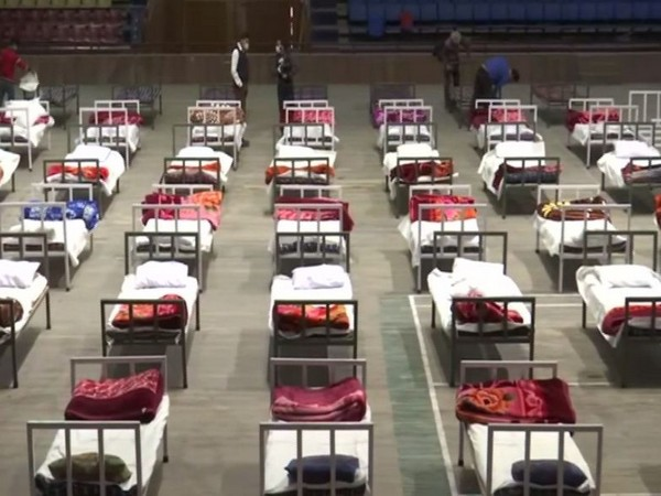 Indoor stadium in Srinagar turned into COVID care centre (Photo/ANI)