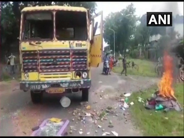 The police personnel has also been deployed in the area. (Photo: ANI)