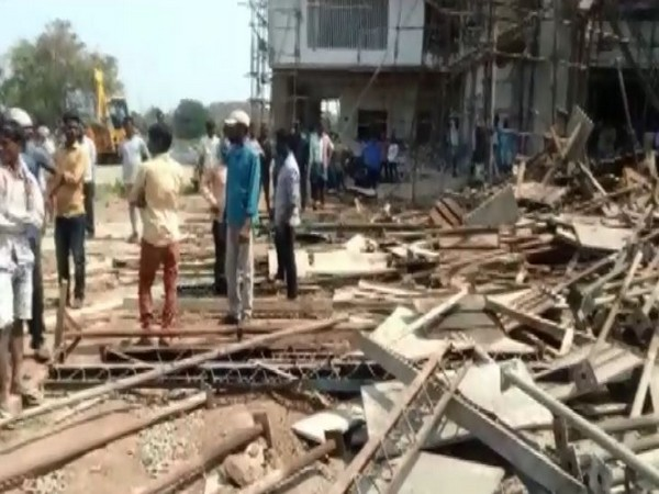 A visual from the incident in Telangana's Mahabubabad on Monday. (Photo/ANI)