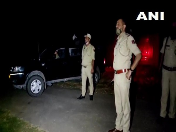 Visual of police officials in Samba where drone activities were suspected (Photo/ANI)