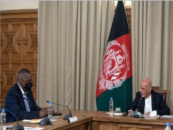 Afghan President Ghani meets with US Defense Secy (Photo Credit: US department of Defense)