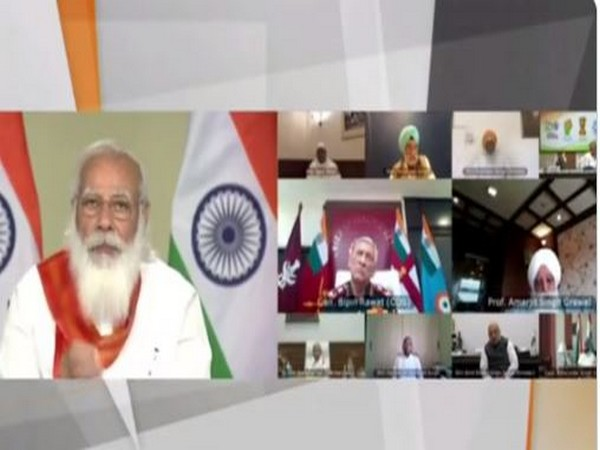 PM Modi chairs High-Level Committee (HLC) to commemorate the 400th Birth Anniversary of Guru Tegh Bahadur (Photo/ANI)