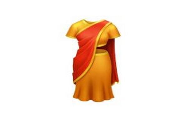 Saree Emoji by Emojipedia, Image Courtesy: Twitter