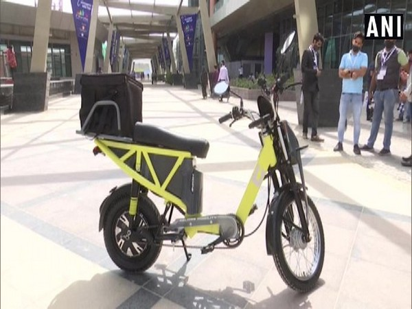 The model of E-scooter HOPE (Photo/ANI)