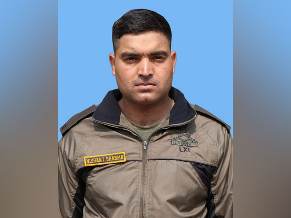 Nk Nishant Sharma of 10 Jammu and Kashmir Rifles.