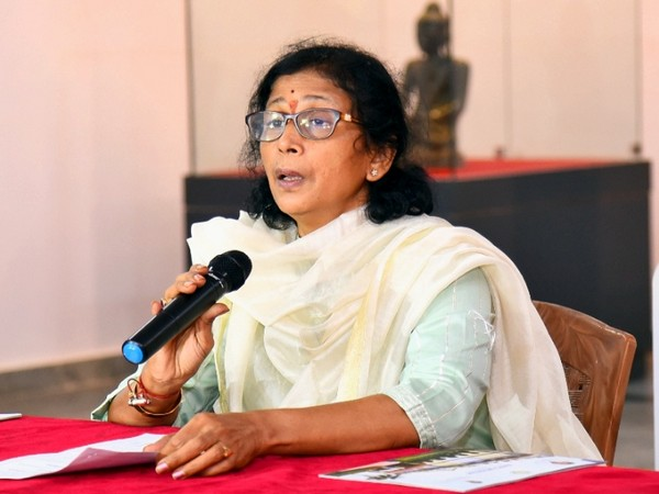 G Vani Mohan, Commissioner, Department of Archaeology and Museums, Andhra Pradesh (Photo/ANI)