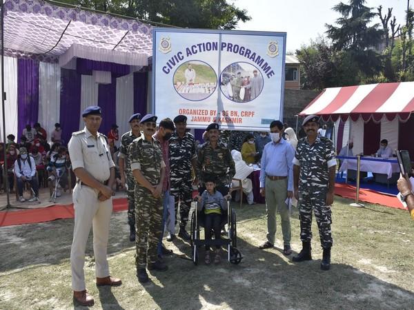 CRPF's medical camp in J-K's Budgam (Photo/ANI)