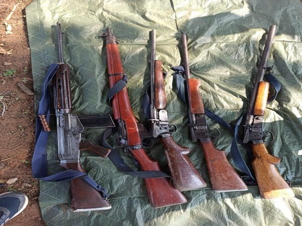 Recovered Rifles (Photo/ANI)