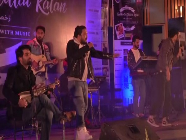 A musical band performed at the Rukhsat-e-Chillai Kalan event in Jammu and Kashmir. (Photo/ANI)