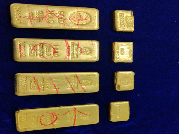 5.05 kg of gold was recovered by Customs department in Chennai on Monday. Photo/ANI