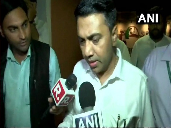 Goa Assembly Speaker Pramod Sawant speaking to reporters at Panaji on Tuesday