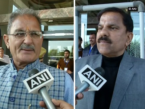 Bharatiya Janata Party leader Kavinder Gupta (left) and Chairman of the National Panthers Party Harsh Dev Singh (right) speaking to ANI in Jammu on Tuesday.