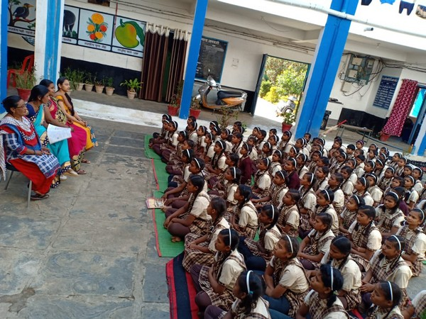 Students in Chhattisgarh being taught by values enshrined in the Constitution. (Photo/ANI)