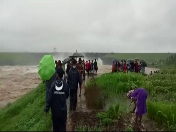 Water release from Madhuban Dam caused a flood-like situation in Damn and Diu on Sunday. (Photo/ANI)