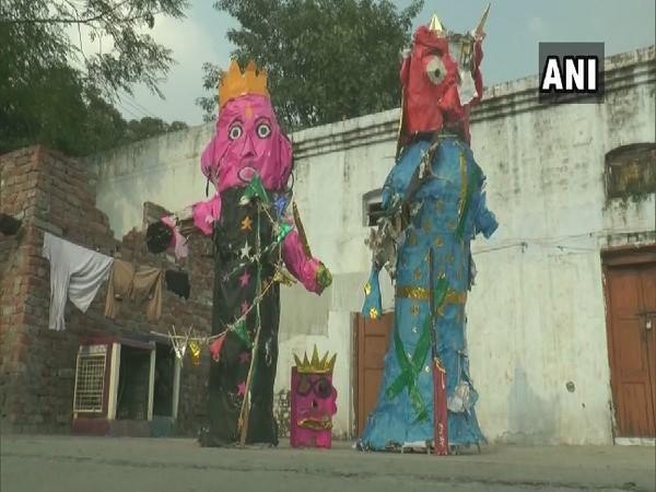 Police seizes effigies near railway line in Ludhiana