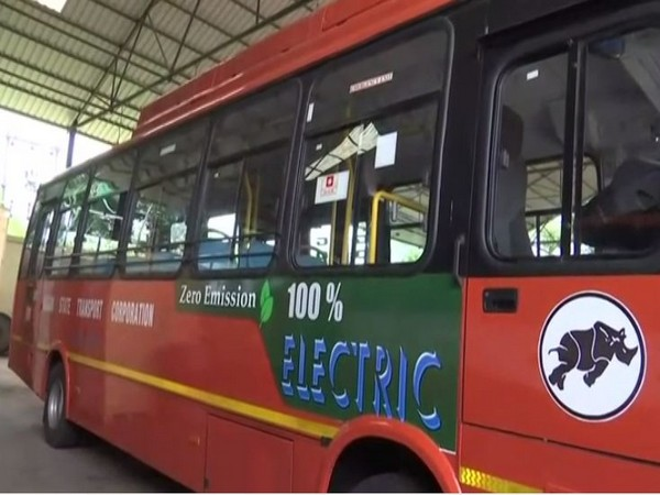 Electric bus in Guwahati.