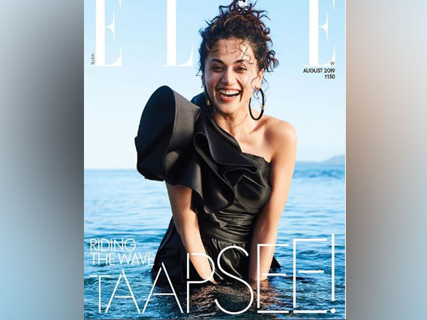 Taapsee Pannu as the cover girl of Elle magazine (Image courtesy: Instagram)