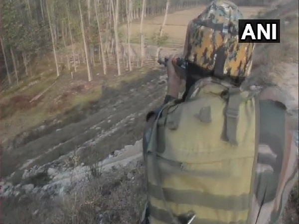 Visual from encounter between terrorits and security forces in Anantnag, Jammu and Kashmir.