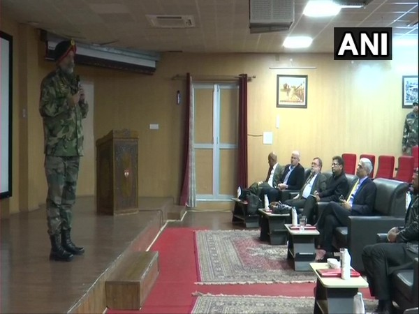 Lieutenant General KJS Dhillon briefed Delegation of foreign envoys visiting Jammu and Kashmir on security situation in region