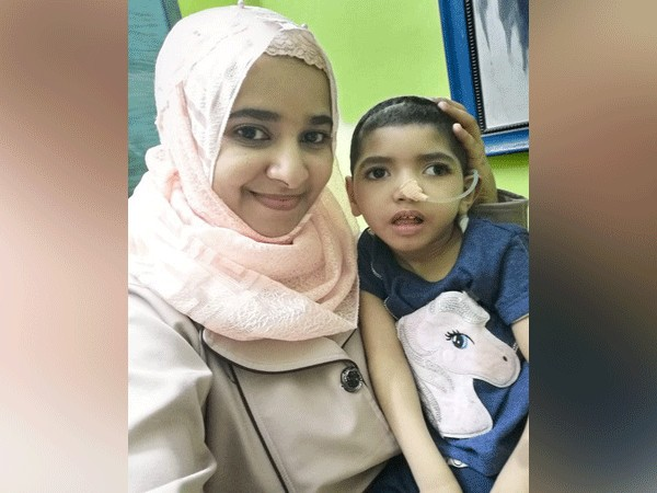 Noora Ahmed Othman Thabit with her four-year-old daughter Manar diagnosed with a rare kind of epilepsy. (File photo)
