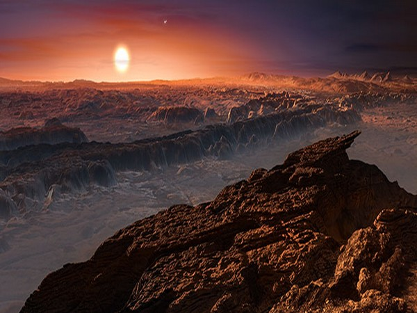 Artistic representation of planet Proxima b orbiting the red dwarf star Proxima Centauri (Image Source: ESO/M. Kornmesser)