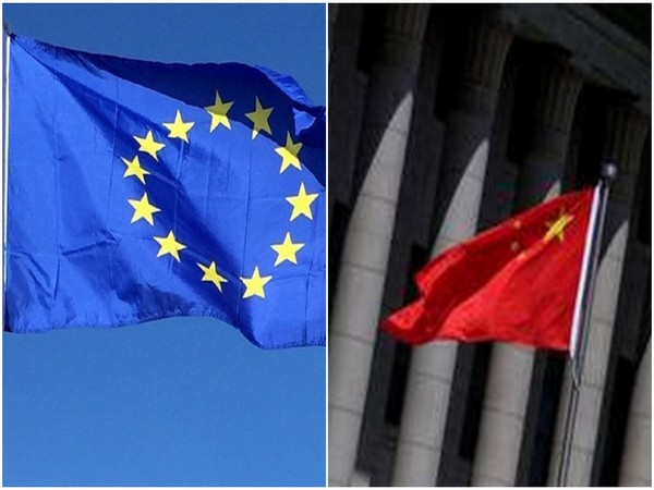 EU and Chinese flags
