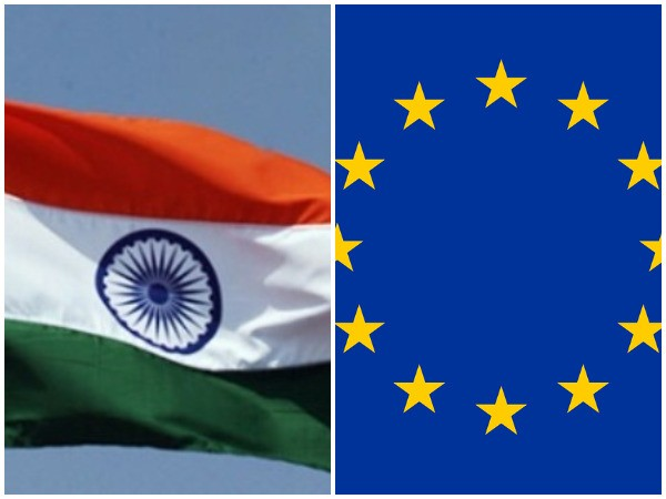 Indian and EU flags