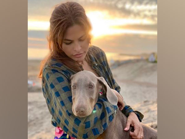 Eva Mendes with her dog, Picture courtesy: Instagram